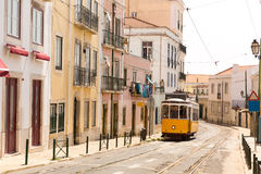 Tram on the street Royalty Free Stock Photography
