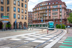Tram in the street of Strasbourg, France Royalty Free Stock Photography