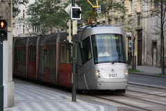 tram, streetcar, trolley Royalty Free Stock Photos