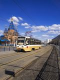 Tram on the streets of Moscow Royalty Free Stock Photo