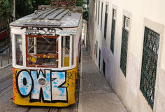 Tram, the symbol of the city. Royalty Free Stock Image