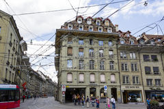 Tram system infrastructure in Bern Royalty Free Stock Photo