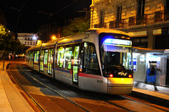 Tram Tag  in motion - Granoble Royalty Free Stock Photo