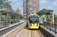 Tram at Terminus Royalty Free Stock Photo