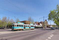 Tram to explore fantastic attractions around the city. Trams in Bendigo can be used to explore the beauty and architecture around the city. Means of Royalty Free Stock Photography
