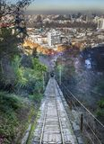 Tram to the top of hill, San Cristobal hill, Stock Photos