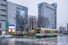 Tram in Toyama city Japan Stock Photography