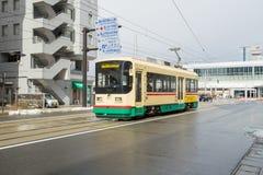 Tram in Toyama city Japan Royalty Free Stock Image