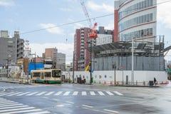 Tram in Toyama city Japan Stock Image
