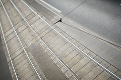 Tram track Royalty Free Stock Photo