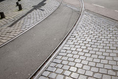 Tram Track; Den Haag; the Hague; Holland Royalty Free Stock Images