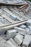 Tram track Royalty Free Stock Images