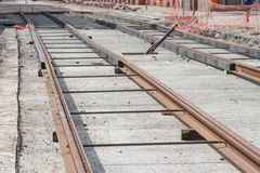 Tram track Royalty Free Stock Image