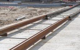Tram track Stock Image