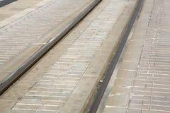 Tram Track in Soller Port, Majorca. Spain Stock Photography