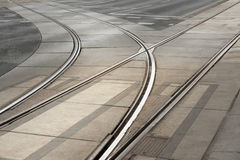Tram tracks Stock Photos