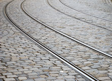 Tram tracks Royalty Free Stock Photos