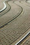 Tram tracks Stock Photo