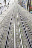 Tram tracks in the city Royalty Free Stock Images