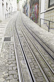 Tram tracks in the city Stock Images
