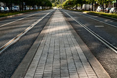 Tram tracks Royalty Free Stock Images