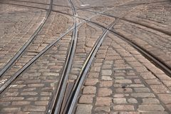 Tram tracks Stock Photography
