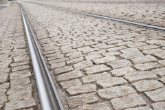 Tram Tracks, Dresden Stock Photo