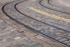 Tram Tracks in Helsinki Royalty Free Stock Photos