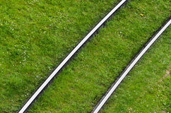 Tram tracks Stock Images