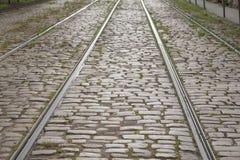 Tram Tracks, Riga, Latvia Stock Images