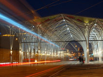 Tram and tram station. Royalty Free Stock Photos