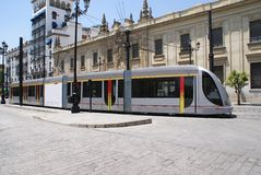 Tram. tramcar. streetcar, trolley. trolley car Stock Photo