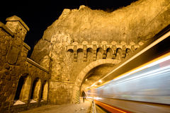 Tram tunnel Visegrad Stock Image
