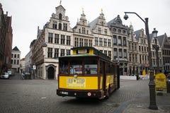 Tram turistico a Anversa, Belgio Immagine Stock Libera da Diritti