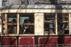 Tram vagon of KM type Stock Photo