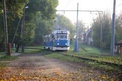 tram Vagone blu Fotografia Stock