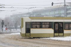Tram van Boekarest, Roemenië Stock Fotografie