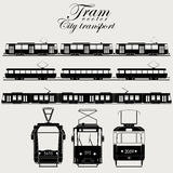 Tram vector city transport Stock Photography