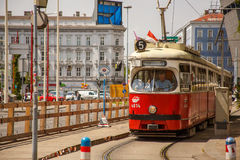 Tram in Vienna Royalty Free Stock Images