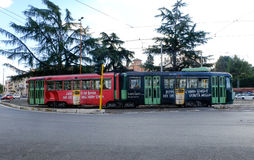 Tram. View of a tram in Rome Royalty Free Stock Image