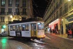 Tram, ville de Lisbonne, l'Europe Photos stock