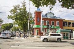 Tram ways at Severnaya street Royalty Free Stock Image