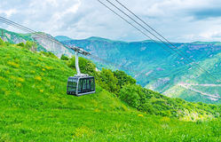 The tram of Wings of Tatev Royalty Free Stock Photos