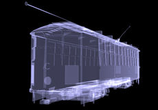 Tram. X-ray Stock Image