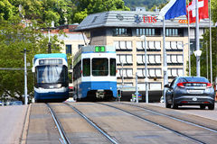Tram in Zürich Stockfotos
