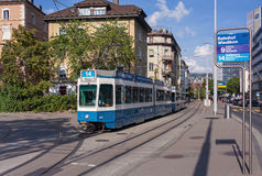 Tram in Zürich royalty-vrije stock fotografie