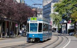 Tram in Zürich stock foto's