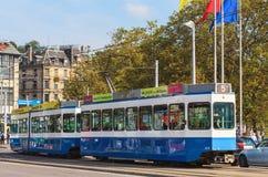 Tram in Zürich, Switzeland royalty-vrije stock foto's