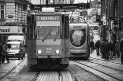 Tram in Zagreb Royalty Free Stock Photo
