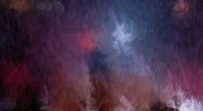 Trama abstracta, fondo decorativo del grunge, con las manchas caóticas y los descensos borrosos de la pintura en lona texturizada stock de ilustración
